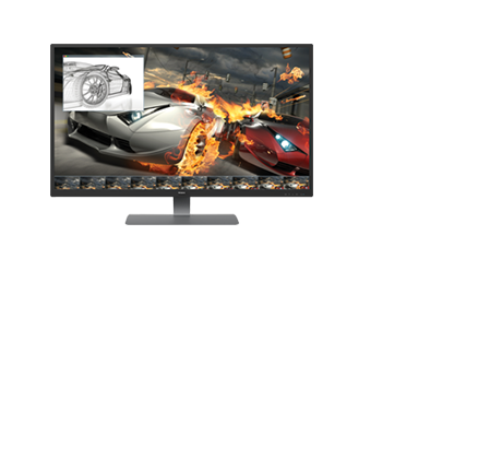 Enjoy stunning, high quality images on 4k Ultra-High Definition Monitors.  Perfect for gaming, multimedia, graphic design or even day-to-day productivity.