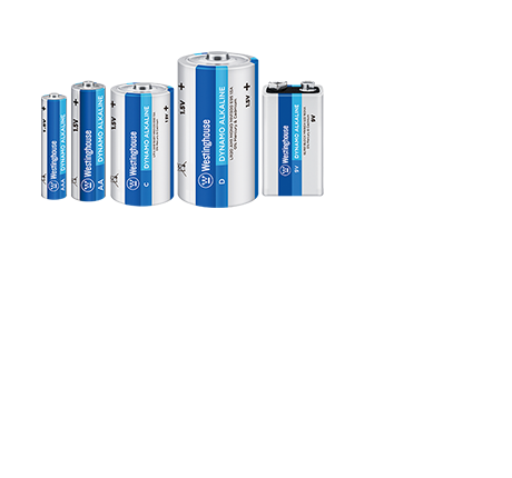 Dynamo Alkaline, Super Heavy Duty, Specialty, NiMH Rechargable, smartphone backup, plus pocket-sized batteries that can even jump start your car.