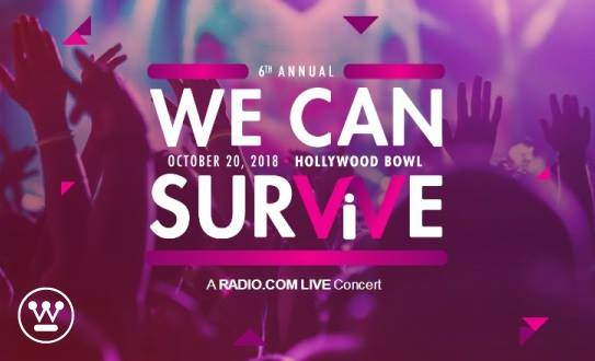 6th Annual WE CAN SURVIVE on October 20, 2018 at the Hollywood Bowl. A RADIO.COM LIVE Concert.