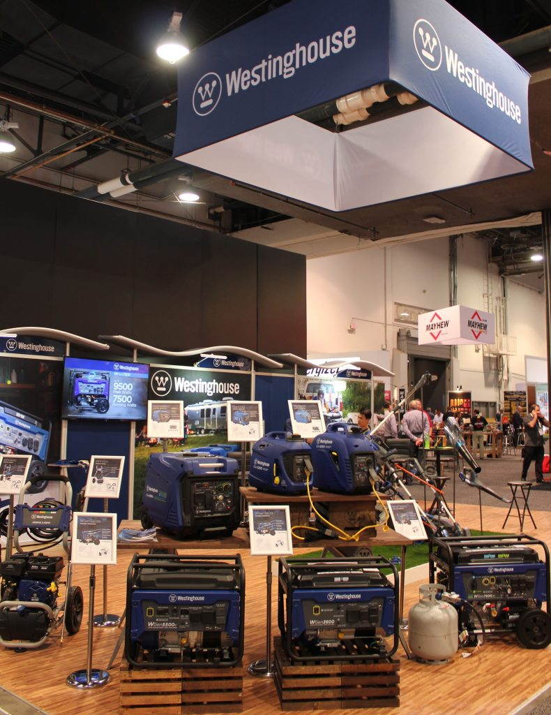 Westinghouse generators at National Hardware Show 2019
