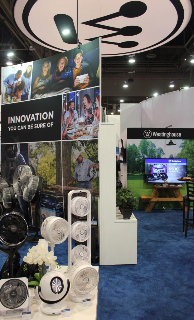 Westinghouse booth at National Hardware Show 2019