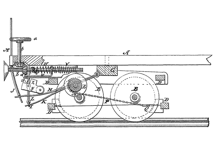 Blueprints of automatic air brake.