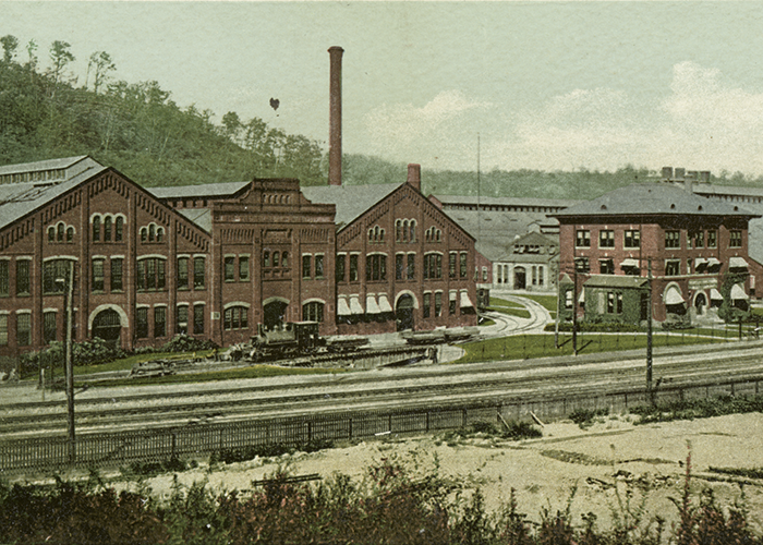 Photo of Westinghouse Electric Company factory building.