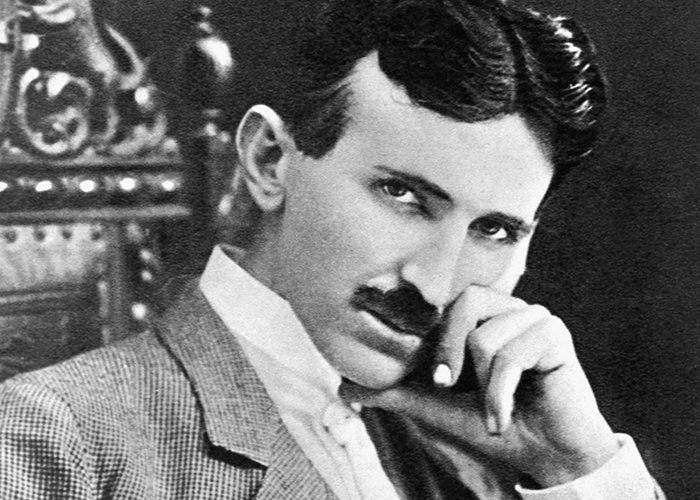 Portrait of Nikola Tesla