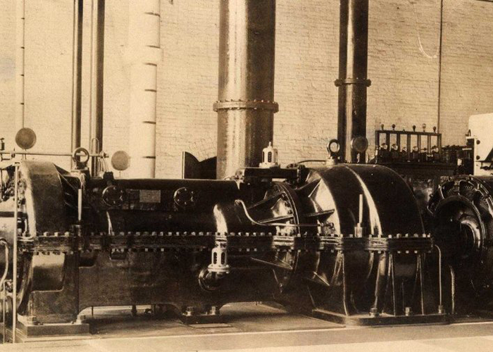 Photo of steam turbine driven generator.