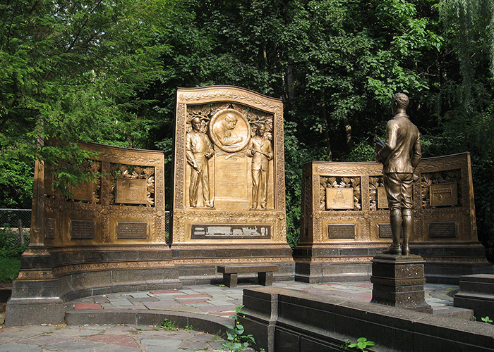 Photo of Westinghouse Memorial in Pittsburgh, PA.