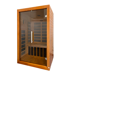 Our two person saunas are designed with relaxation in mind, equipped with built in digital control panels, reading lights and audio speakers.