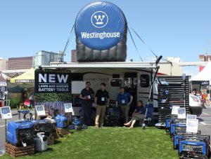 Westinghouse outdoor tailgate booth at the National Hardware Show 2019