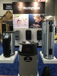 Westinghouse Water Heaters display at the International Builders Show 2017.