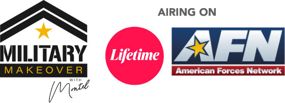 Military Makeover, Lifetime and AFN Logo