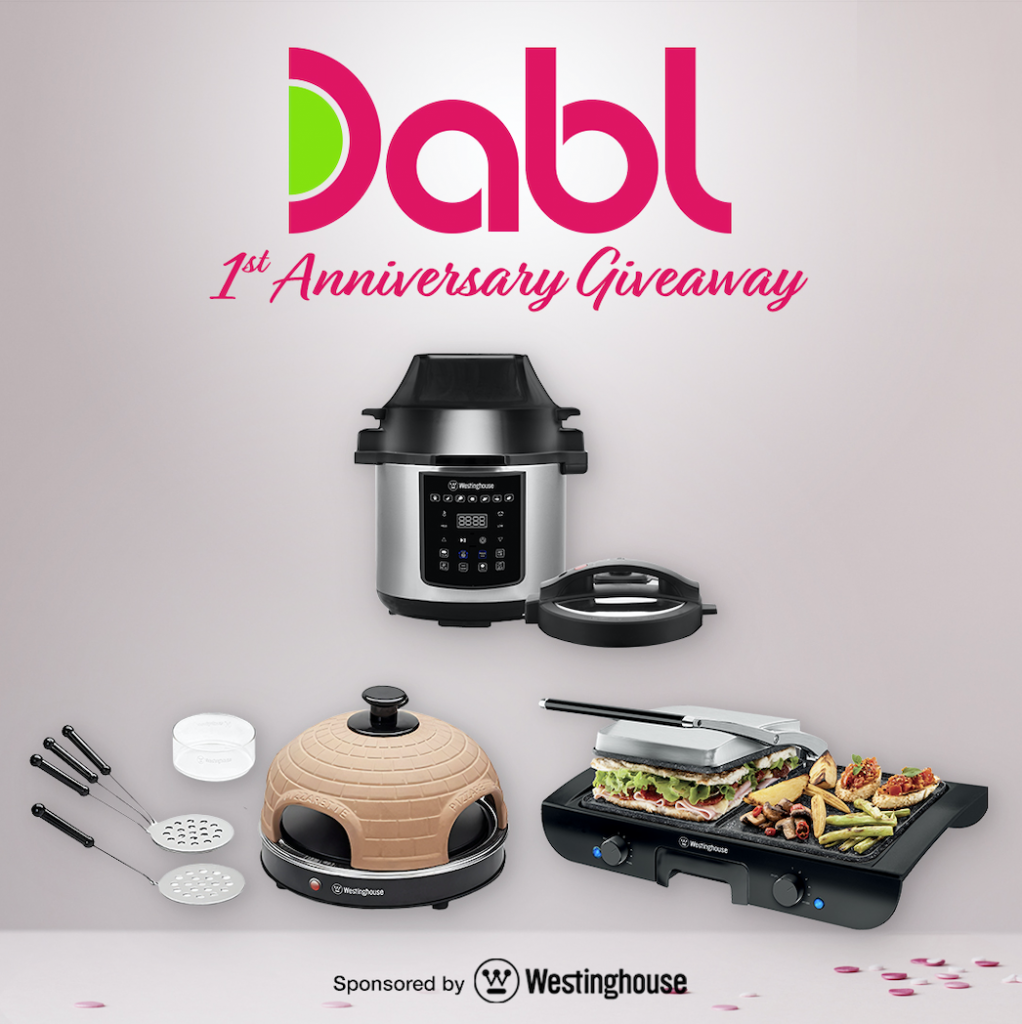 Dabl 1st Anniversary Giveaway sponsored by Westinghouse