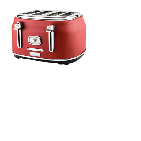Westinghouse 4-Slice Retro Styled Toaster in Red.